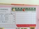 """Week of"" indicated using calendar washi tape."