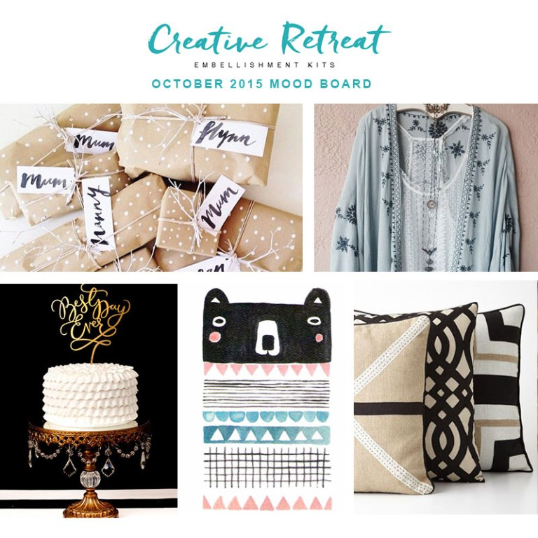Creative Retreat October embellishment kit