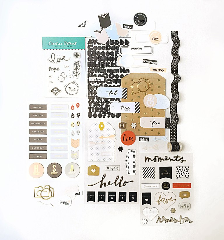OCTOBER embellishment kit