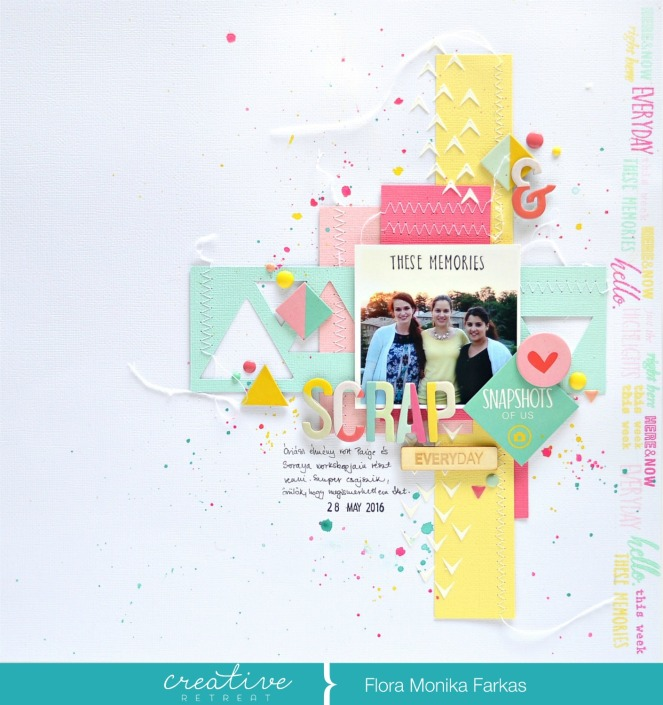 scrapbook layout with creative retreat kit