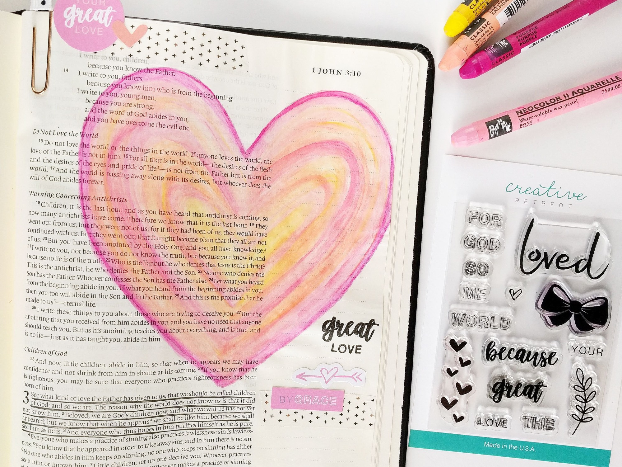 Great Love | Bible Journaling With Elli