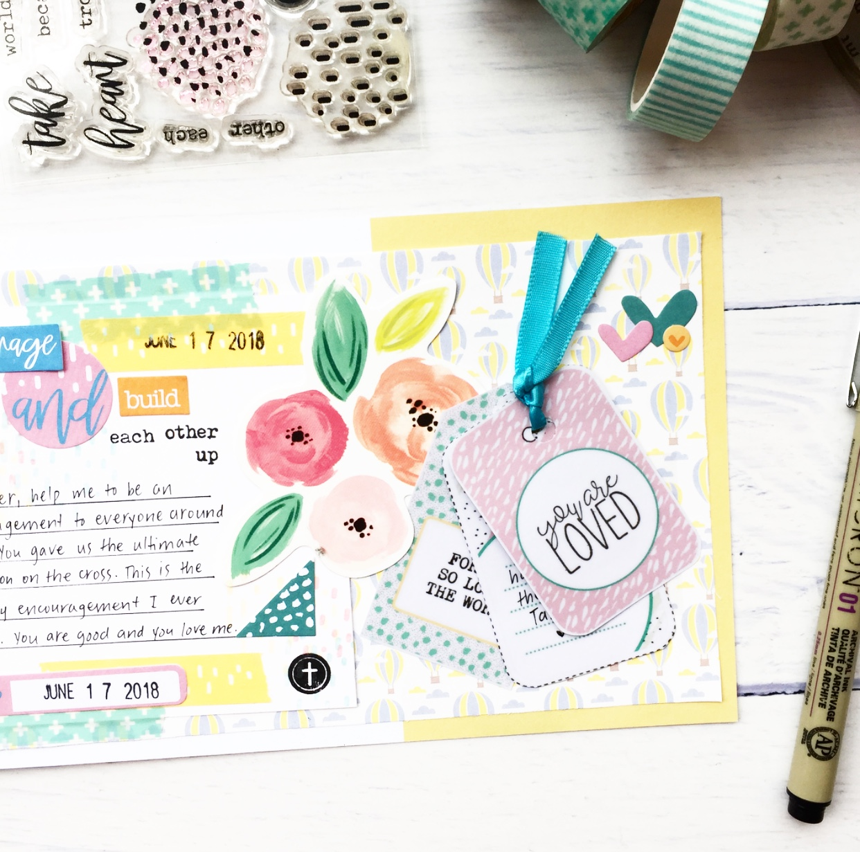 Let Us Encourage One Another | Bible Journaling with Cece