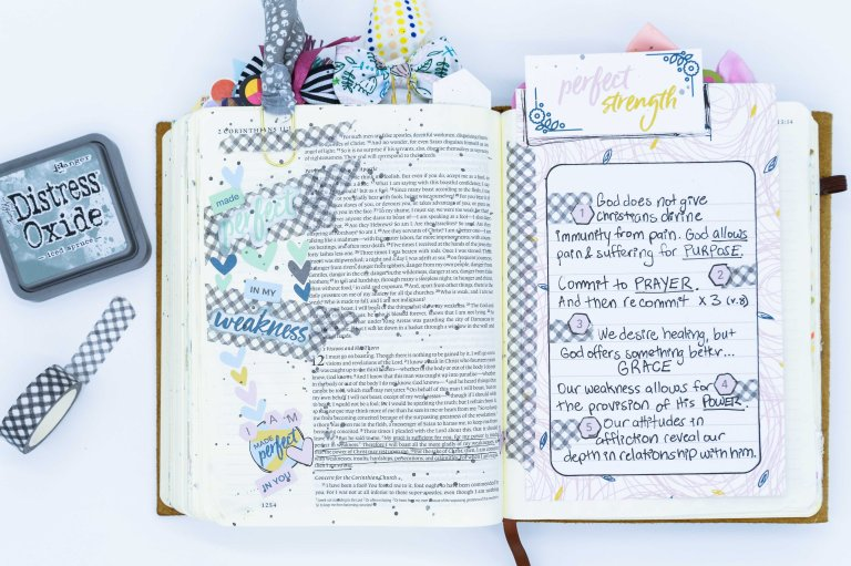 Made Perfect in Weakness | Bible Journaling Sermon Notes